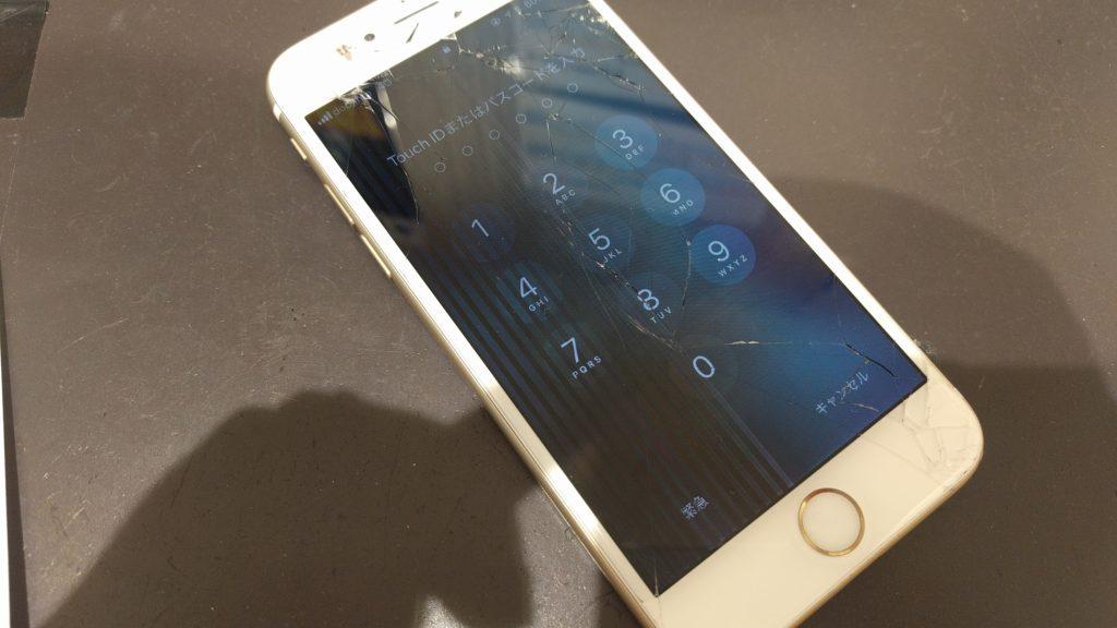 液晶の壊れたiPhone7②