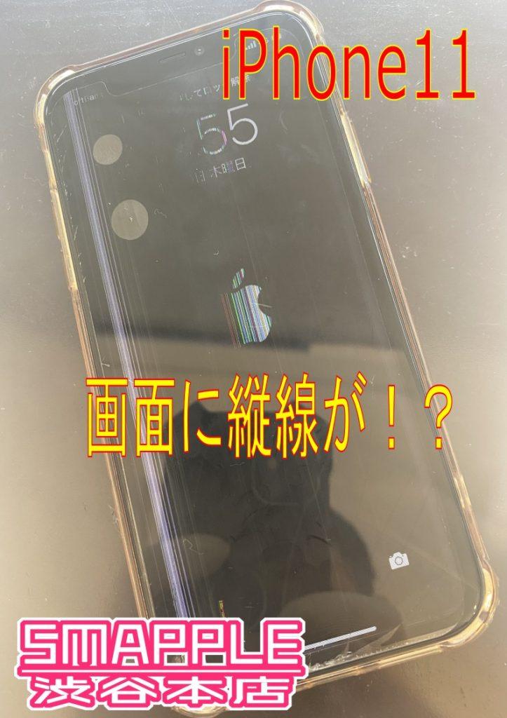 iPhone11表示に縦線!?