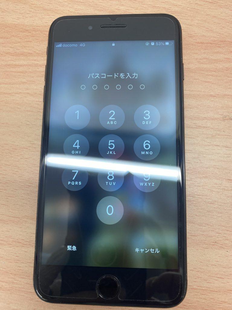 ガラス割れもなくなり表示可能になった修理後のiPhone