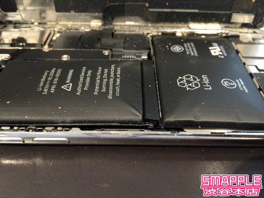 iPhoneXを開けてみたらバッテリーがパンパンに膨れていた