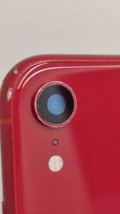 修理で傷一つない綺麗なカメラガラスに直ったiPhoneXR画像