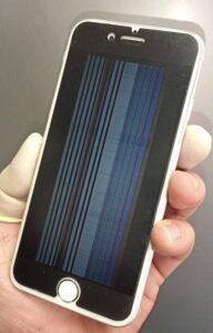画面故障で表示に線しか映らなくなってしまったiPhone6s画像